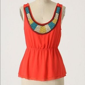 Adorable beaded tank from Anthropologie!
